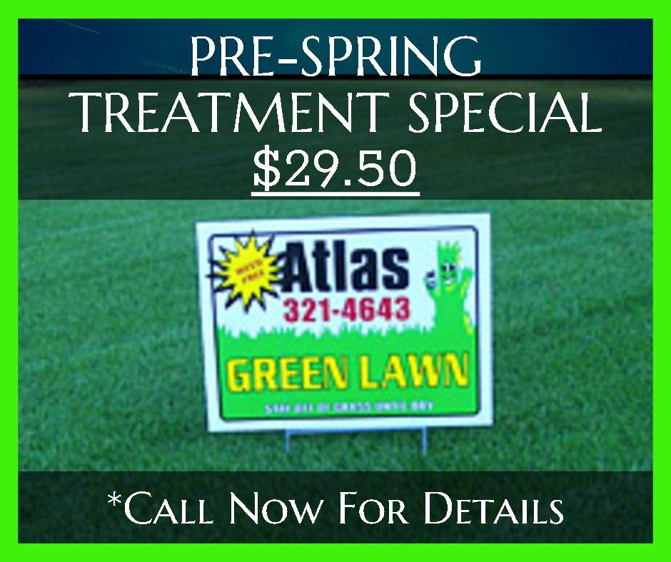 Atlas Green Lawn Pre Spring Treatment